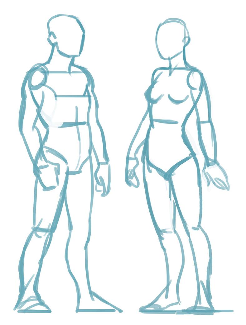 comment dessiner un mannequin
